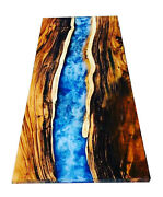 Blue River Resin Ocean Dining Table Acacia Epoxy Table Top Decor Made To Order