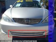 Gtg 2002 - 2004 Toyota Camry 2pc Polished Overlay Bumper Billet Grille Grill Kit