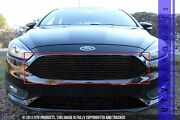 Gtg 2015 - 2018 Ford Focus 1pc Gloss Black Replacement Upper Billet Grille Grill