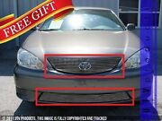 Gtg 2005 2006 Toyota Camry 2pc Polished Replacement Combo Billet Grille Kit