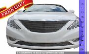 Gtg Polished 2pc Replacement Billet Grille Kit Fits 2011 - 2014 Hyundai Sonata