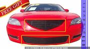 Gtg 2007 - 2009 Mazda 3 2pc Gloss Black Replacement Billet Grille Grill Kit