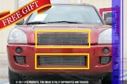 Gtg Polished 2pc Combo Billet Grille Grill Kit Fits 2004 - 2009 Hyundai Tucson