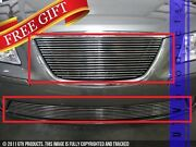 Gtg Polished 2pc Replacement Billet Grille Grill Fits 2009 - 2010 Hyundai Sonata