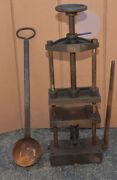 Foundry Casting Press Sand Mold Knife Axe Making Tool Collectible Jeweler Press