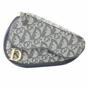 Christian Dior Canvas Trotter Saddle Pouch Porch Navy Brand Secondhand