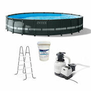 Intex 20' X 48 Ultra Xtr Frame Above Ground Pool Set With 3 In Chlorine Tablets