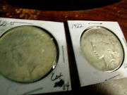 2 Peace Liberty Head Silver Dollars 1922 Dates And Ps