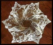 Lalique France Crystal Conch Shell Bowl Signed And Authentic Heavy