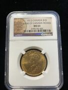 Canada 1913 10 Ms63 Ngc Gold Hoard