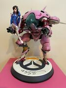 Overwatch D.va With Meka Figure Statue Signed 36cm Blizzard Collectible Rare254