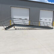 Heavy Duty 12and039h X 48 Industrial Commercial Stairs For Mezzanine W/safety Rail