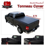 Black Soft Roll-up Tonneau Cover Assembly Fit 16-21 Tacoma 6' Fleetside Bed