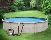 12and039 X 52 Above Ground Pool Resin Pkg W/filter System Acces Lifetime Warranty