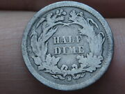 1866 S Seated Liberty Half Dime, Vg Details