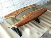 Mappa Burl Table Sold Table River Table Resin Dining Table Acacia Wooden Decors