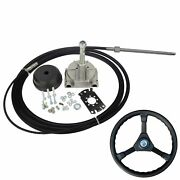 10ft Engine Turbine Marine Rotary Steering System Boat Mechanical Cable And Wheel