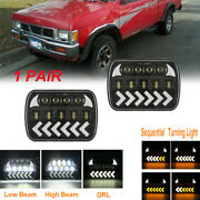 For Toyota Nissan Pickup Truck 7x6led Headlight Sequential Turn Drl Hi-lo Beam