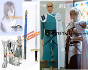 Cosplay Costumes Bedivière Bedwyr Fate/grand Order Full Body Armor Sword Wig