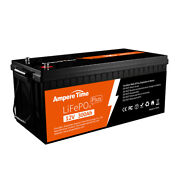 Ampere Time 12v 300ah Plus Deep Cycle Lithium Battery Built-in 200a Bms For Rv