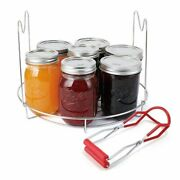 Canning Jar Lifter Tong Stainless Steel Anti-scalding Clip Non-slip Bottle Clip