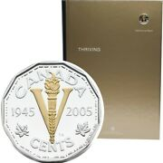 2005 Royal Canadian Mint Annual Report With Silver Ve Day 5 Cents