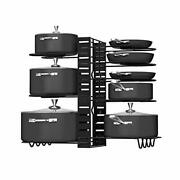 8 Tiers Pot Rack Organizers Pot Lid Holders For Kitchen Counter And Cabinet