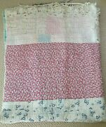 Vintage Handmade Patchwork Folk Art Crazy Farmhouse Country Quilt One Of A Kind