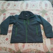 Mens The Insulated Jacket Size Large Gray With Green Accents Euc