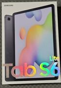 Samsung Galaxy Tab S6 Lite 64gb Bundle, Oxford Gray With Book Cover And S-pen