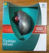Logitech Trackman Wheel Sealed New Wired Optical Trackball Usb Mouse