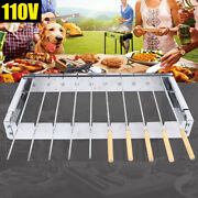 Portable Stainless Steel Barbecue Grill Electric Rolling Frame Outdoor Bbq Shelf