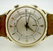 14k Gold Innocent Lecoultre Mechanical Alarm Hand-wound Cal.814