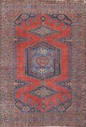 Antique Viss Geometric Tribal Hand-knotted Area Rug Wool Oriental Carpet 7and039x10and039