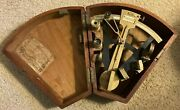 Antique Thomas And Sargent Octant In Wood Box - Nice