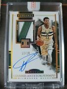 2017 Impeccable Basketball Giannis Antetokounmpo Game Use Patch Autograph 10/10
