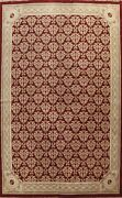Geometric Aubusson Chinese Oriental Area Rug Hand-knotted Large Carpet 10'x14'