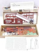 Vintage Walthers 75' Ttx Flatcar And 50' Waffle Side Box Carl Unbuilt Ho Scale