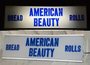 Vintage Lighted Sign American Beauty Bread / Rolls - Working - 24 1/2 Long