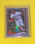 2014 Topps Chrome 25 Xander Bogaerts Refractor Rookie Card Boston Red Sox