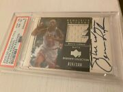 2003 Exquisite Collection Dennis Rodman Worm 26/100 Auto Game Used Jersey Psa 8