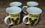 Set Of 4 New Disney The One And Only Mickey Mug Donald Goofy Pluto Style 4013580