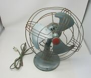 Antique General Electric Ge Fan With Ge Red Logo On The Front
