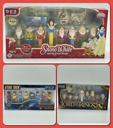 Multiple Pez Collectible Sets -snow White- Star Trek - Lord Of The Rings