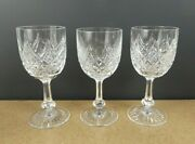 3 Baccarat Cut Crystal Colbert Water Goblets Itb8