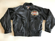 Mickey Mouse Racing Team All Leather Bomber Jacket