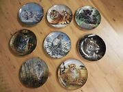 8 Franklin Mint Collectors Plates - Signed/numbered - Individual Or Lot