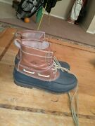Sperry's Decoy Duck Boots   11.5 Men's Us   Brown Leather Boots   Good Condition