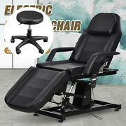Electric Facial Chair Massage Table Bed Spa Salon Stylist Chair Beauty W/ Stool