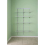 Closetmaid Wire Closet System 16.75 In. X 48 In. X 80 In. 4-adjustable Shelf